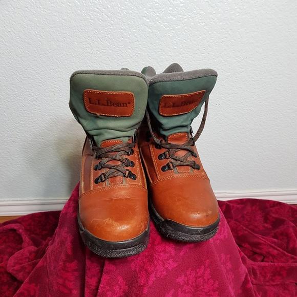 97a5a4bd887 LL BEAN Women Knife Edge Leather Hiking Boot Sz 8